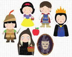 Disney Inspired Snow White Digital CLIP ARTS personal by Digicute