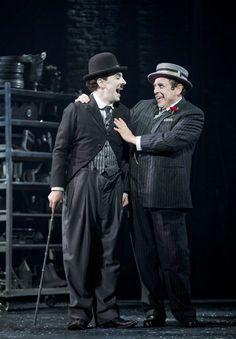 Rob McClure as Charlie Chaplin and Michael McCormick as Mack Sennett in CHAPLIN THE MUSICAL (Photo: Joan Marcus)