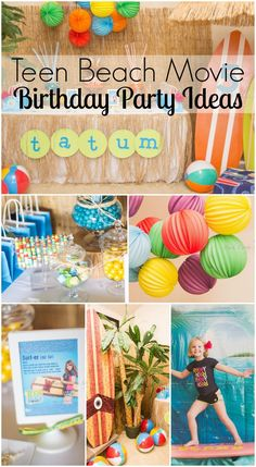 Great Teen Beach Movie girl birthday party ideas! See more party ideas at CatchMyParty.com. #teenbeachmovie #girlbirthday