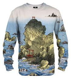 Futamigaura in Ise Province sweater Material: Cotton, Polyester Cut: Unisex Origin: Made in EU Availability: Made to order Cotton Sweater, Sweater Hoodie, Men Sweater, Meiji Restoration, Summer Sale, Beautiful Women, Unisex, Long Sleeve, Sweaters