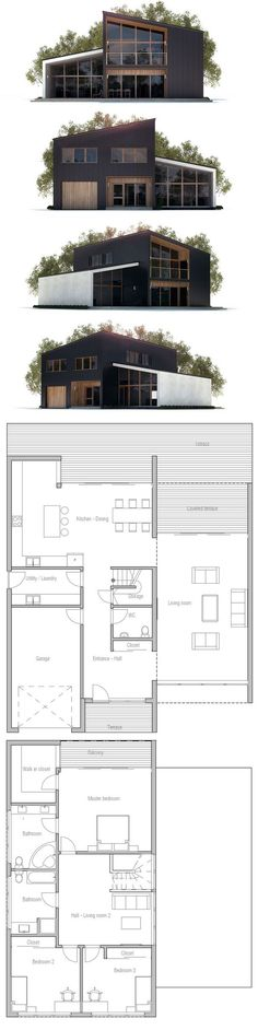 plan de petite maison Plus #modernhomedesignplans