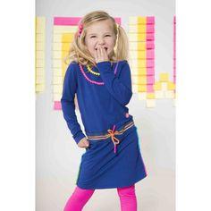 KIDZ-ART kinderkleding   KIDZ-ART - Tops AW17 - Kidz-art jurk fancy shoulder 5833   Webshop samsamkinderkleding.nl