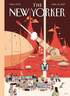 An illustration by Luke Pearson for The New Yorker magazine (April 22 2013)