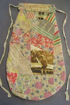 Reverse of hanging pocket made by Mandy James