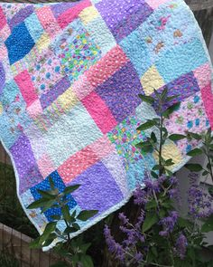 Whimsical Fairy Tale Baby Quilt Unique Baby by littleashleighs, $38.00