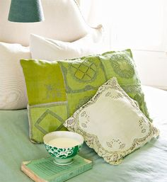 How to make a cushion from vintage handkerchiefs - Better Homes and Gardens - Yahoo!7