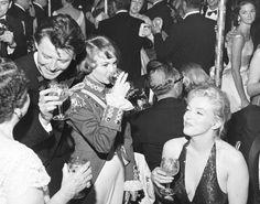 Április 11, 1957, New York // Gérard Philipe és Françoise Arnoul találkozik Marilyn Monroe és férje Arthur Miller