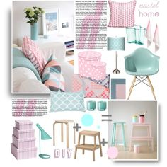 """Pastel home"" by summersun27 on Polyvore"