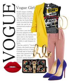 """""""Let's Vogue"""" by nedixon on Polyvore featuring Topshop, River Island, Christian Louboutin, Dolce&Gabbana, Chloé and Dyrberg/Kern"""