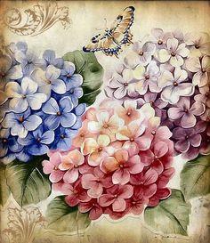 Decoupage Vintage, Decoupage Paper, Paper Quilling, Art Floral, Vintage Flowers, Vintage Floral, Watercolor Clipart, Floral Watercolor, Fleurs Diy