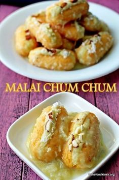 18 Indian Desserts Guaranteed To Satisfy Your Sweet Tooth- 18 Indian Desserts Guaranteed To Satisfy Your Sweet Tooth Malai Chum-Chum Indian Dessert Recipes, Indian Sweets, Sweets Recipes, Cooking Recipes, Diwali Recipes, Diwali Snacks, Eggless Recipes, Indian Recipes, Indian Dishes