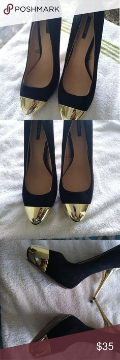 Heels Black and gold heels, very little wear. Good for a good night out Shoes Heels