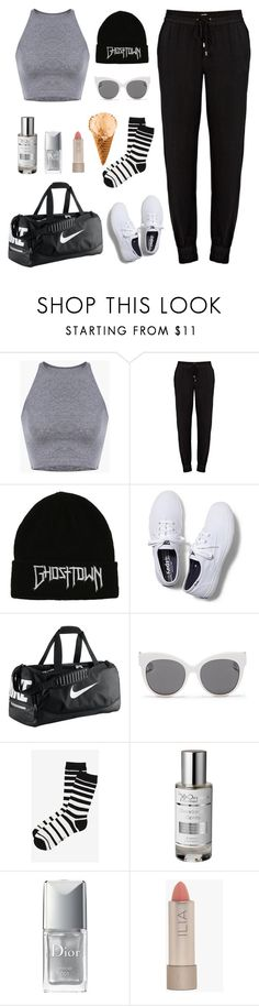 """#41"" by nada-shraim ❤ liked on Polyvore featuring Paige Denim, Keds, NIKE, Blanc & Eclare, Express, The Organic Pharmacy, Christian Dior and Ilia"