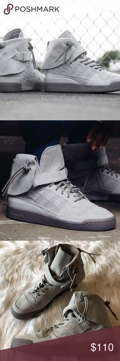 brand new 9f2b7 8fa48 Adidas Forum Hi Moc Gray Sneakers Size- 9 Condition- New without tags adidas  Shoes Sneakers