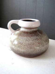 Vintage VEB Haldensleben Mid Century Jug Vase by DoceVikaVintage