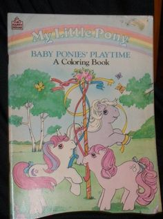 Baby Ponies' Playtime. A Colouring Book. Happy House