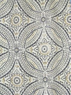 Blissfulness Pewter Outdoor Fabric - Kelly Ripa Home outdoor fabric by the yard. Fabric Rug, Drapery Fabric, Fabric Decor, Outdoor Upholstery Fabric, Outdoor Fabric, Kelly Ripa, Chair Pads, Toss Pillows, Slipcovers