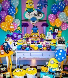 Decoração párrafo Festa Infantil Minions                                                                                                                                                     Mais