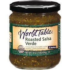 World Table Roasted Green Medium Salsa, 16 oz