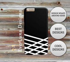 Black and White IPhone 7 6 and 5 Samsung by EverLunaStore White Iphone, Iphone 7, Cool Designs, Samsung, Phone Cases, Black And White, Unique Jewelry, Handmade Gifts, Etsy