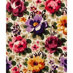 Liberty Art Fabrics Florence A Torrington Silk Crepe de Chine (€68) ❤ liked on Polyvore featuring home and home decor