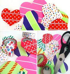 washi tape heart sticker DIY  Dekorella Shop http://dekorellashop.hu/ #dekortapasz #washitape #maskingtape