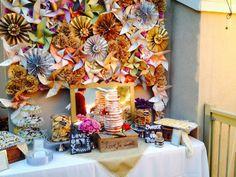Pinwheel backdrop & dessert table