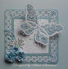 Butterfly card - so pretty, and so great for a multitude of occasions - http://selmasstampingcorner.blogspot.com/