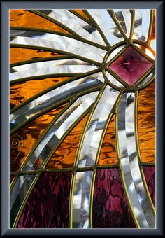 Star Shine Stained Glass by wavesandwaterfalls,