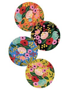 These bright, floral coasters ($16) are perfect for adding a subtle tropical feel to your coffee table or kitchen!
