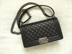 @CHANEL #boy #bag quilted soft calf leather