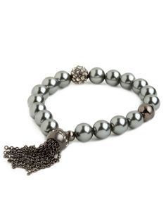 Noir Tassel Bracelet