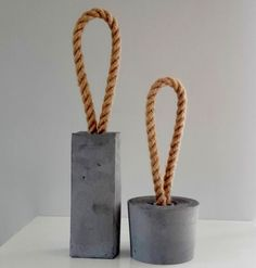 LOOP Concrete Door Stop - round door stopper, concrete decoration