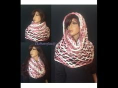 DIY Tutorial - How to Crochet Mobius Twist Shawl and Hooded Cowl - Moebius Wrap - YouTube