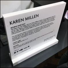 This The Best of Retail Return Policies Reporting discusses a store's return policy as being among its most important sales tools. Yes, sales tools Karen Millen, Signage, Retail, Good Things, Billboard, Signs, Sleeve, Retail Merchandising
