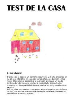 Test de la casa Spanish Classroom Activities, Activities For Kids, Kids Calendar, Educational Websites, School Counseling, Social Work, Art Therapy, Kids Education, Kids And Parenting