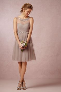 Love this... for bridesmaids. Also comes in a pretty blush color. Chloe Dress from BHLDN