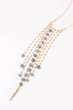 Mystic Labradorite Fringe Necklace - Chan Luu