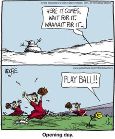 I'm certain this is how my Grandson felt the closer it got to spring training. **We've had a seriously COLD spring thus far, but it hasn't stopped him from meeting his friends on the field to play.**