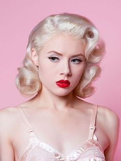 1950's Pinup Makeup Tutorial - http://thepinuppodcast.com shares this image for the love of all things pin up