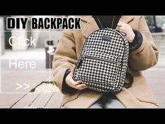 ✂ Materials you need to make this DIY backpack: - fabric - . Vans Backpack, Small Backpack, Longchamp Backpack, Kipling Backpack, Prada Backpack, Herschel Backpack, Laptop Backpack, Travel Backpack, Kanken Backpack