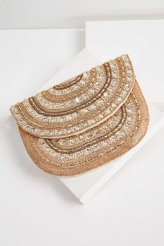 170c351cf85259 Champagne Beaded Clutch  myversonastyle Beaded Clutch