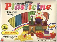 Plasticine. Didn't smell as good as Play Doh :(