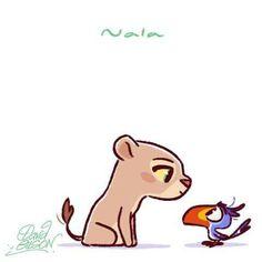 Chibi Nala and Zazu