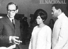 Renny Ottolina  junto a la cantante Aretha Franklin. Caracas, 30-08-1968 (DIMAS IBARRA / ARCHIVO EL NACIONAL)