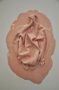 Amazing art in Juxtapoz by Lucy Glendinning. It looks like a rubber catsuit. http://www.rubbercult.com/: