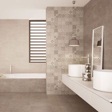 Oppidan Espresso Sands Patchwork Stone Effect Ceramic Wall Tiles 500x200x8mm