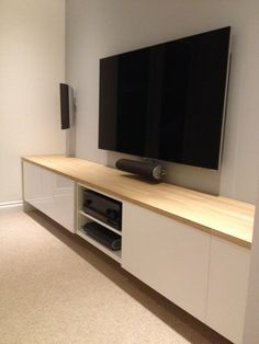 Living room tv unit, living room decor, tv storage, cosy room, home cinemas Living Room Tv Unit, Ikea Living Room, Living Room Furniture, Cosy Room, Tv Wall Decor, Moving House, Deco Design, Living Room Designs, Family Room