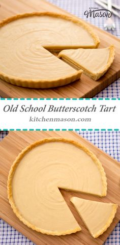 This Butterscotch Tart takes me straight back to my school days! Also called caramel tart & gypsy tart, this tasty treat is easy to make & a classic recipe! (recipes, baking, tart, dessert, pastry, best, ultimate, greatest)