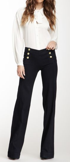 Sailor Wide Leg Trousers i think this is really cute